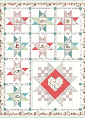 Happiness is Homemade by Maywood Studios- Kitchen Stars Quilt Kit