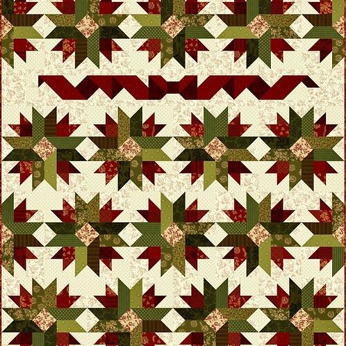 Farmhouse Christmas featuring fabrics from Kim Diehl