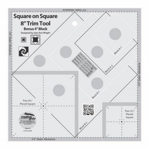 """Square on Square 8"""" Trim Tool by Creative Grids"""