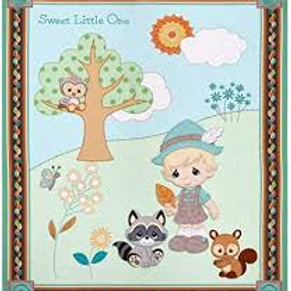 Precious Moments Woodland Baby Boy Panel