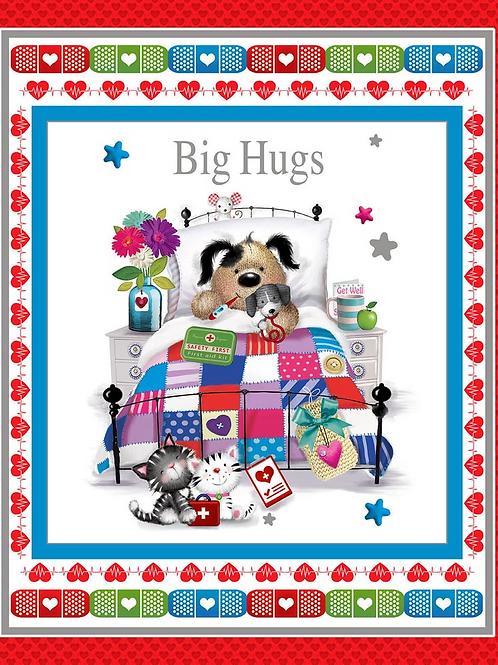 Big Hugs Panel  by Henry Glass Fabrics