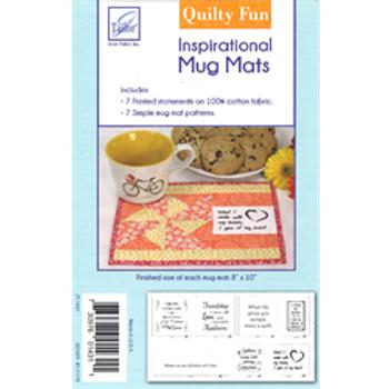 Inspirational Mug Mats Quilt as you Go--by June Tailor