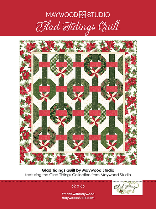 Glad Tidings Quilt Kit from Maywood Studios