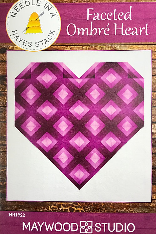 Faceted Ombre Heart by Needle is a Hayes Stack