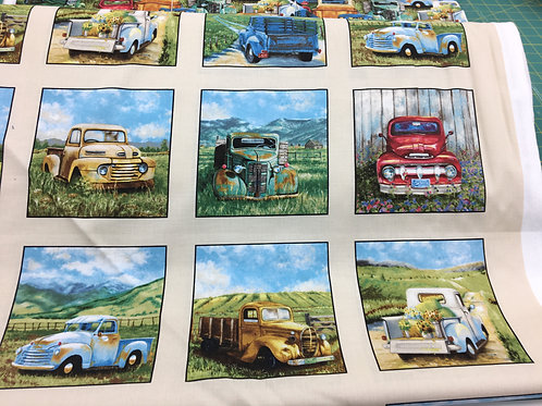 Vintage Trucks Panel by Elizabeth Studios
