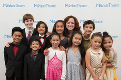 Heidi and all the kids in the cast