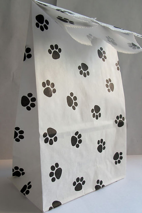 Paw Print Paper Party Bag
