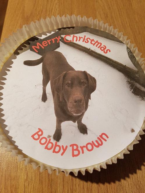 5 inch Christmas Photo Cake