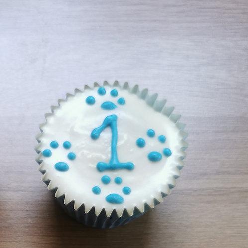 Numbered Cupcake