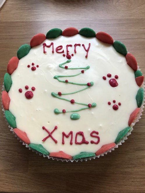 7 Inch Christmas Style Cake
