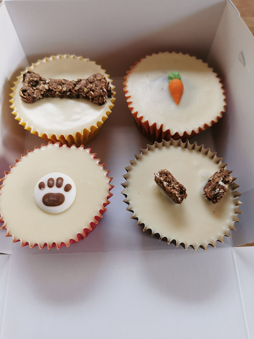 Box Of Four Cup Cakes