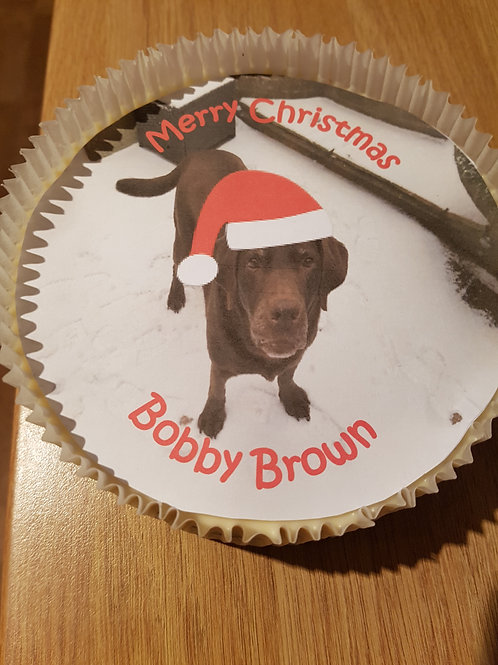 7 Inch Christmas Photo Cake