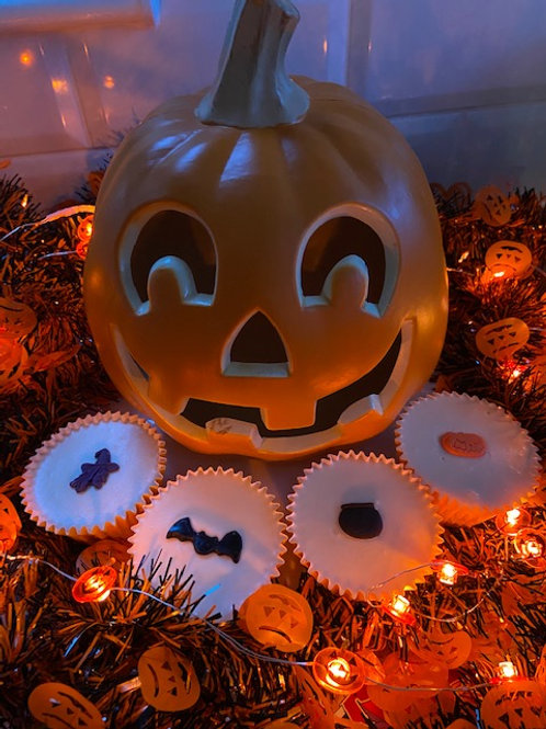 Selection Box Of Four Spooky Cup Cakes