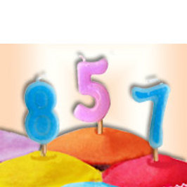 Pink Or Blue Number Candles