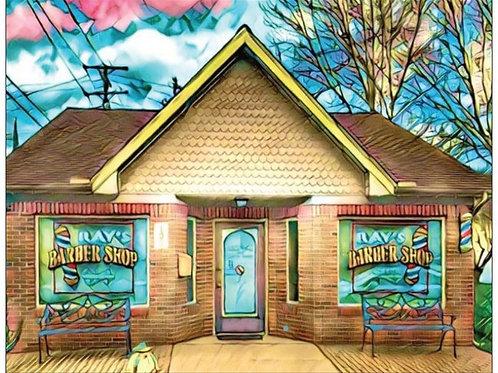 Notecard: Ray's Barber Shop