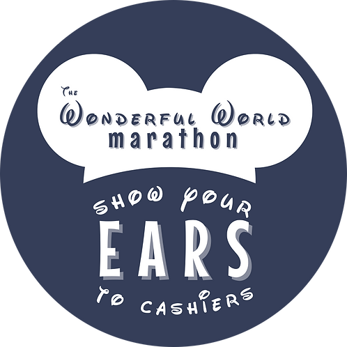 SHOW YOUR EARS TO CASHIERS BUTTON