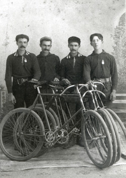 hoover, bicycle boys Edwin Potter Frank Hoover John Hoover Chares Roasch