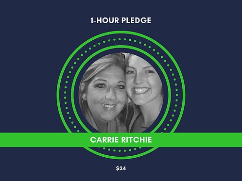 Make a Pledge for Carrie Ritchie