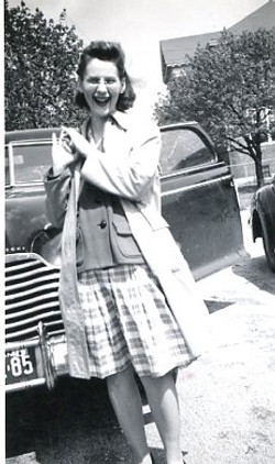 hoover, catherine leaning on car