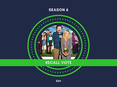 RECALL VOTE