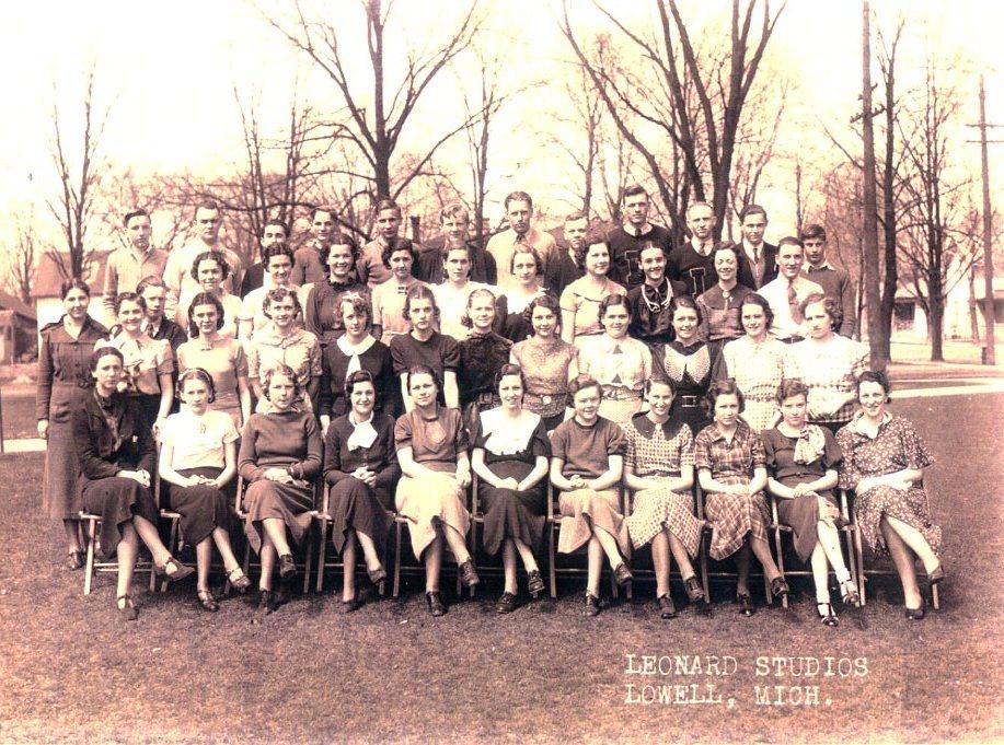 hoover, lowell senior class 1936
