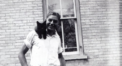 hoover, leo with cat