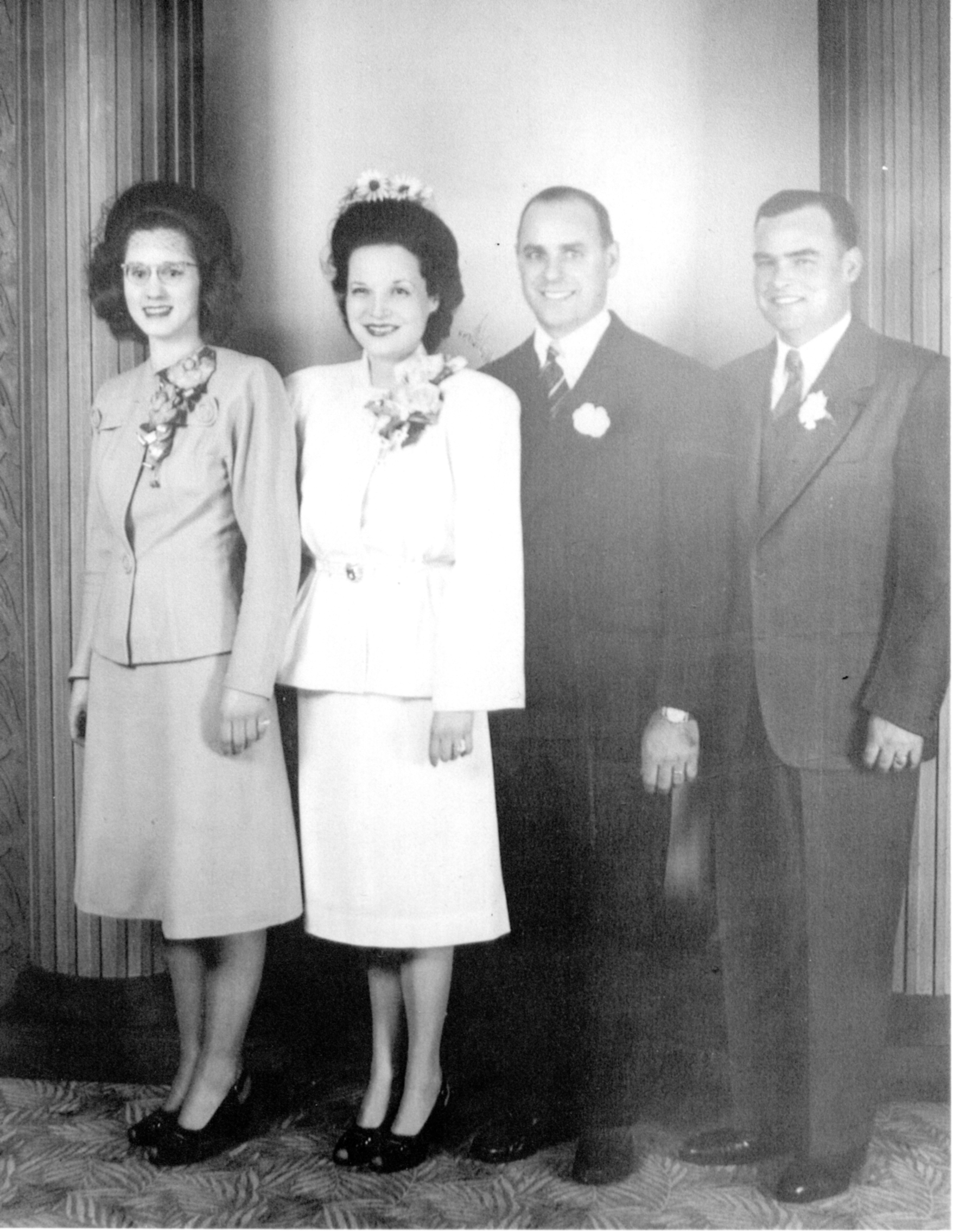 hoover, henry & mildred wedding