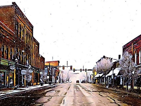 Notecard: Main Street in Winter