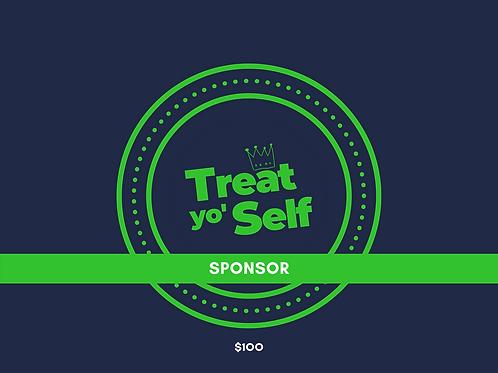 Treat Yo Self Button Sponsor