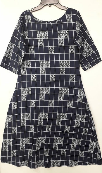 Womens Pattern Kurtis (Grey)