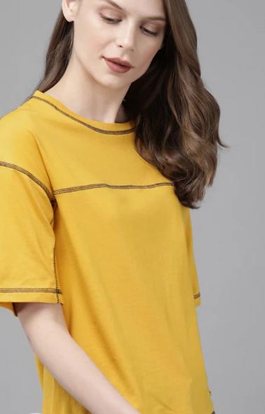 Casual Regular Sleeve Yellow top