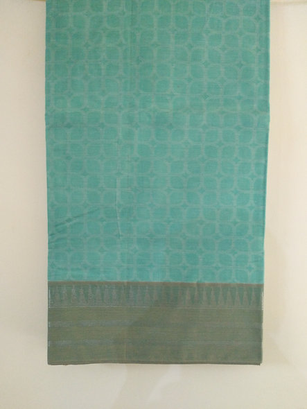 Fashion Cotton Silk Saree (Light Blue)