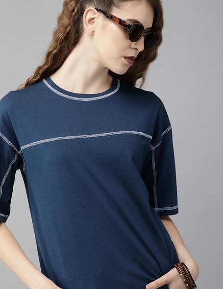 Casual Regular Sleeve Blue top