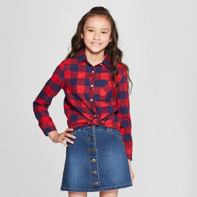 Checked Red shirt for girl