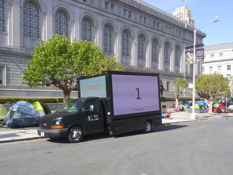 COVID Homeless Effort  digital billboard campaign