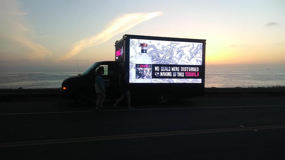 Tequila Espolon digital billboards campaign