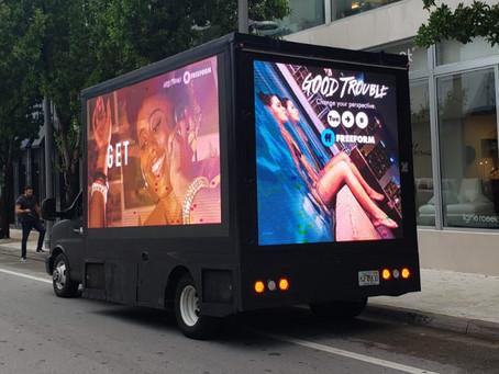 "Led Truck digital billboards welcomes back ""Good Trouble"""
