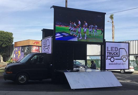 LA Galaxy digital campaign with Led Truck