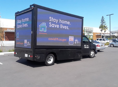 Stay at home campaign with OOH advertising
