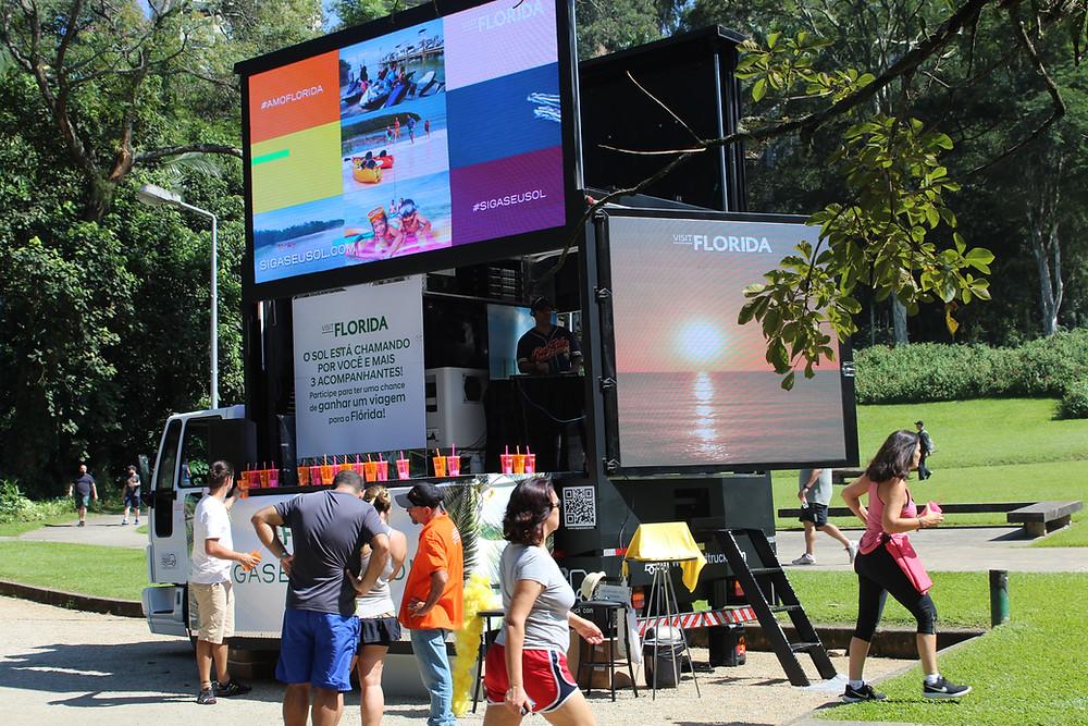 Visit Florida digital billboards campaign