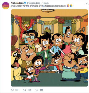 The Casagrandes at Nickelodeon Twitter