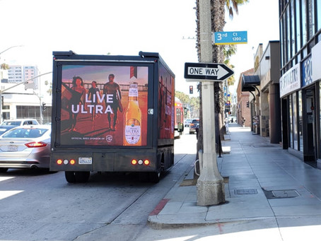 Michelob Ultra's promoted through mobile advertising trucks