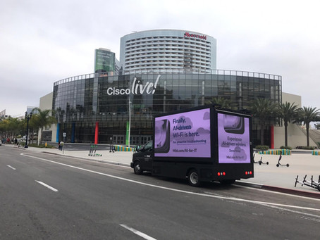 Led Truck mobile advertising presents at Cisco Live