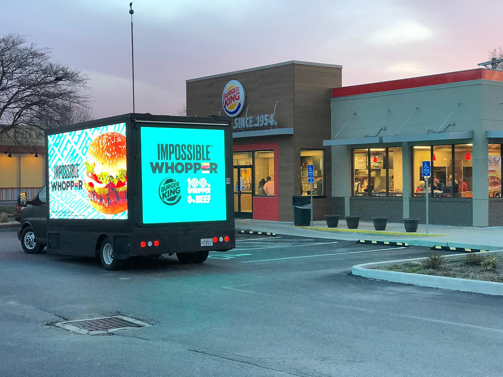 Burger King digital billboards campaign