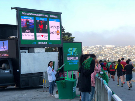 Biofreeze e LED TRUCK surpreendem na Maratona de São Francisco