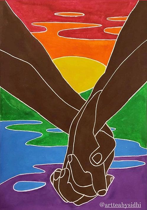 LGBTQ Rainbow Sunset