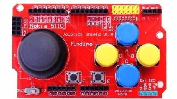 Arduino Joystick Shield 7 Pulsadores Con Interfaces 5v 3v3