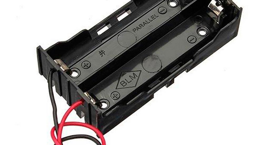 Porta Pilas Baterias X2 / Pila Bateria 18650 Para 2 Baterias