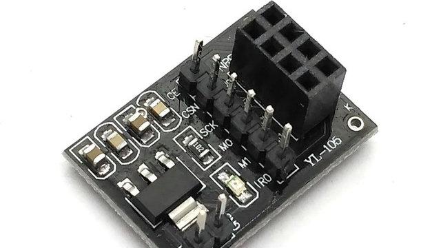 Módulo transceptor Socket Adaptador 8 Pines NRF24L01