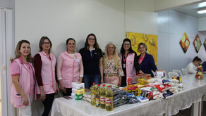 Casa de Apoio da Rede Feminina recebe alimentos